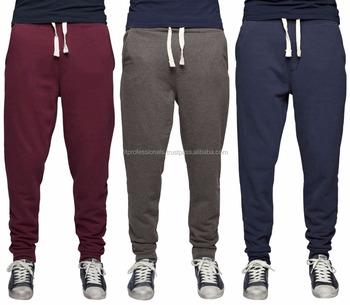 47c07967b3 Personalizado azul marino algodón Jogger pantalones lisos de poliéster  cordón Pantalones deportivos para hombre pantalones holgados