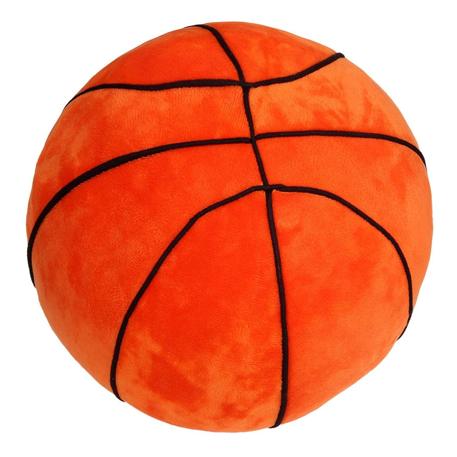 "Tplay Basketball Pillow Fluffy Stuffed Plush Basketball Soft Durable Sports Toy Gift for Kids 9"" L X 9"" W X 9"" H"