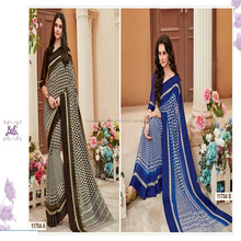 Daily wear printed georgette sarees with blouse - Indian Sarees online wholesale