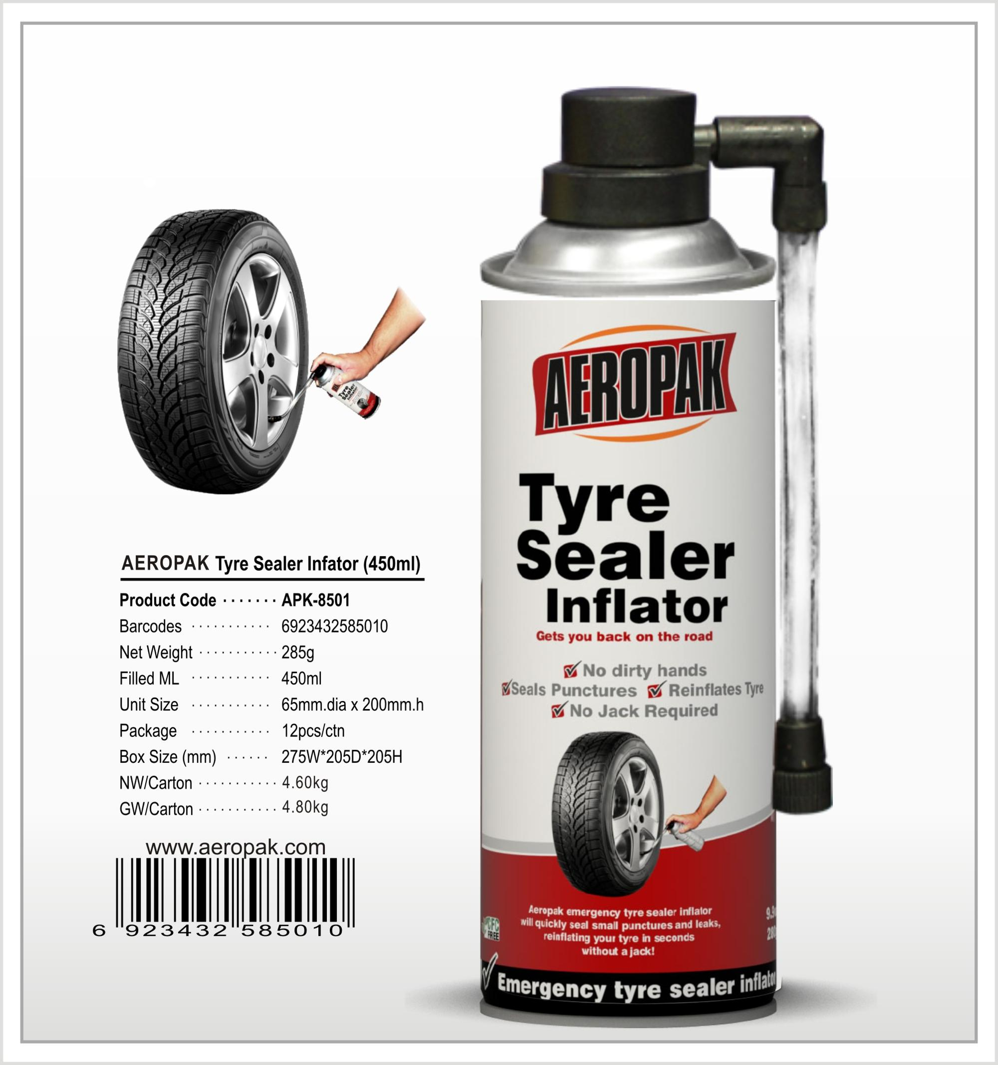 Aeropak Flatfix Tire Sealant Tyre Repair Spray - Buy Fix Flat Tire Sealant  Tire Repair Spray,Fix Flat Tire Sealant,Tire Foam Spray Product on
