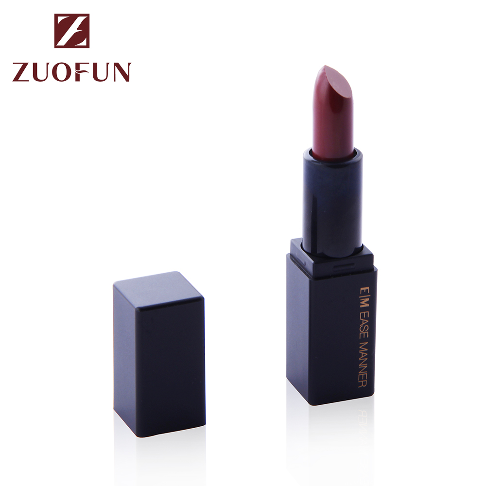 Zuofun Cosmetics New Arrival Design Luxury Fashionable Sexy Lady Organic Matte Lipstick No Logo