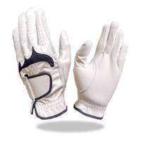 Fashionable Indonesia Golf Glove White with Black List Color for Men and Women