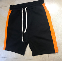 Men's Side Line Casual Shorts/Gym Sports White Orange Yellow Fear