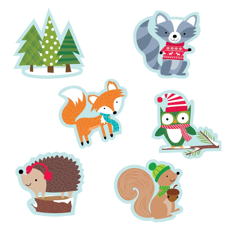"Creative Teaching Press 6"" Designer Cut-Outs, Winter Woodland Friends (6418)"