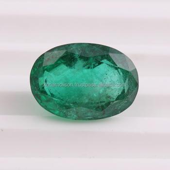 100 Natural Zambian 7 72 Carat Oval Cut Emerald Loose