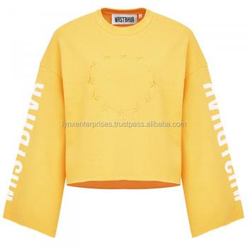 d5a25aebdd173f Crew neck sweater   Drop Shoulder Sweater   Oversize Sweat Shirts   Women Drop  Shoulder Crop