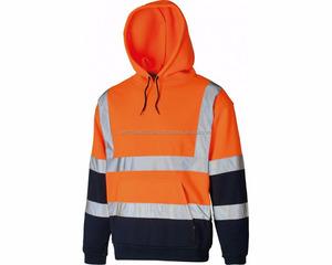 Wholesale orange navy blue hi viz hoodie safety hoodie best selling work wear hoodie safety winter clothing