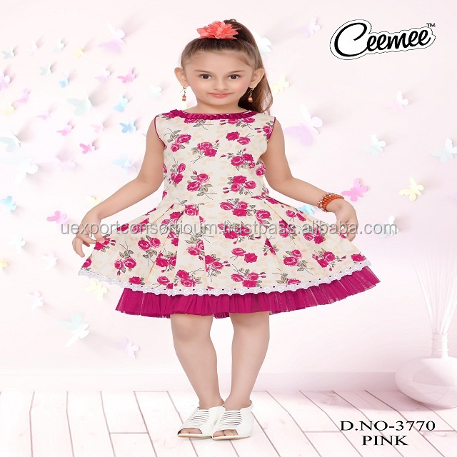 Casual wear Children Cotton Frock with daily wear