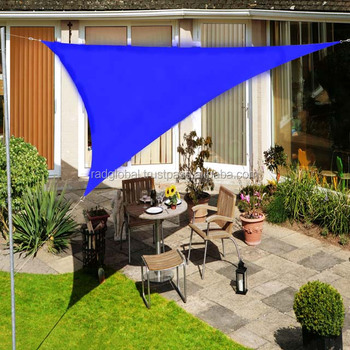 4 2 X 4 2 X 6 0 Meter Right Angle Triangle Blue Color Breathable Sun