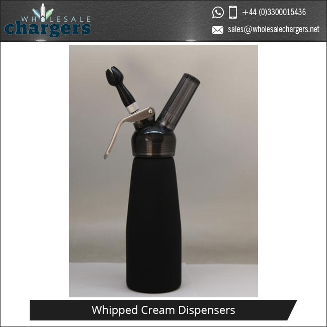 Colorful Translucent 500ml Whipped Cream Dispensers with Matching Plastic Head