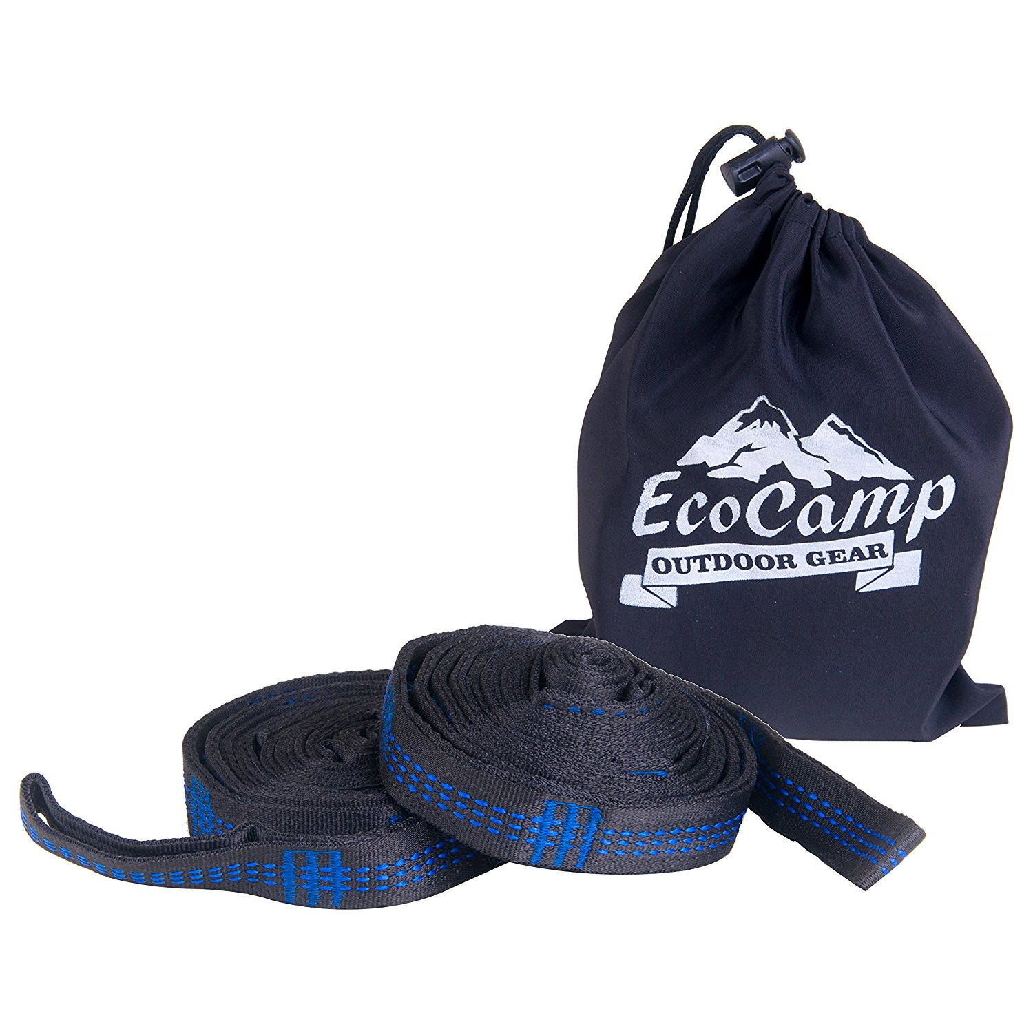EcoCamp Outdoor Gear Tree Straps – XL Hammock Straps – Each Strap is 10FT, 18 + 1 Loops, 1000 LBS – Unyielding and Enduring XL Hammock Tree Straps- Long, No Stretch, Heavy Duty Outdoor Tree Straps