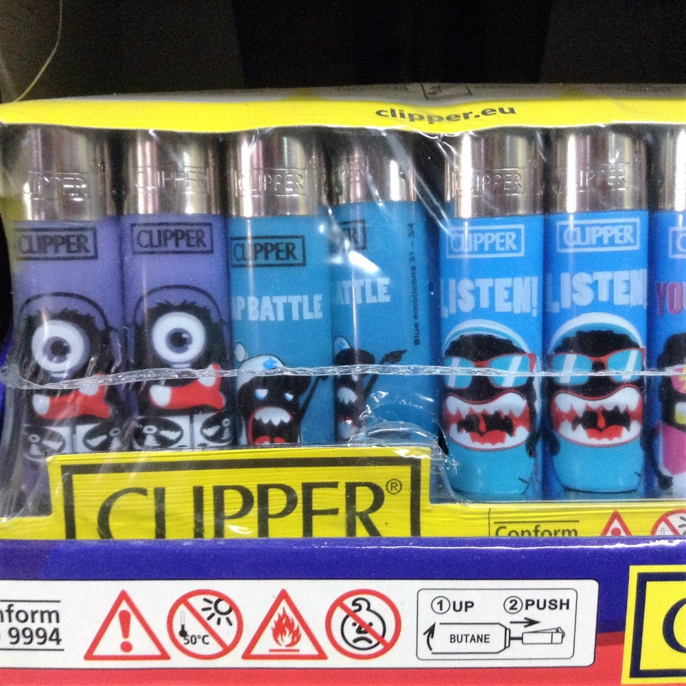 disposable electric custom clipper lighters OEM lighter