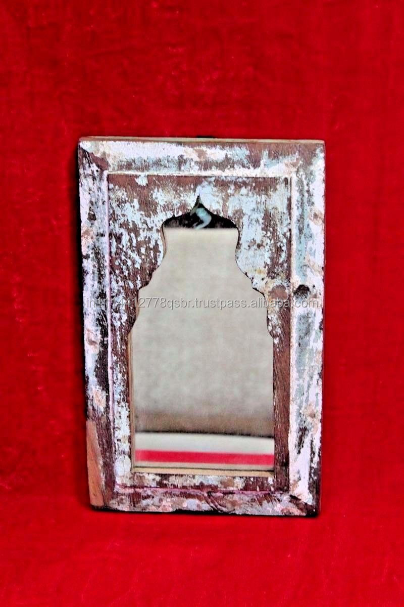 Reproduction Wooden Decorative Old Wood Wall Mirror with Frame