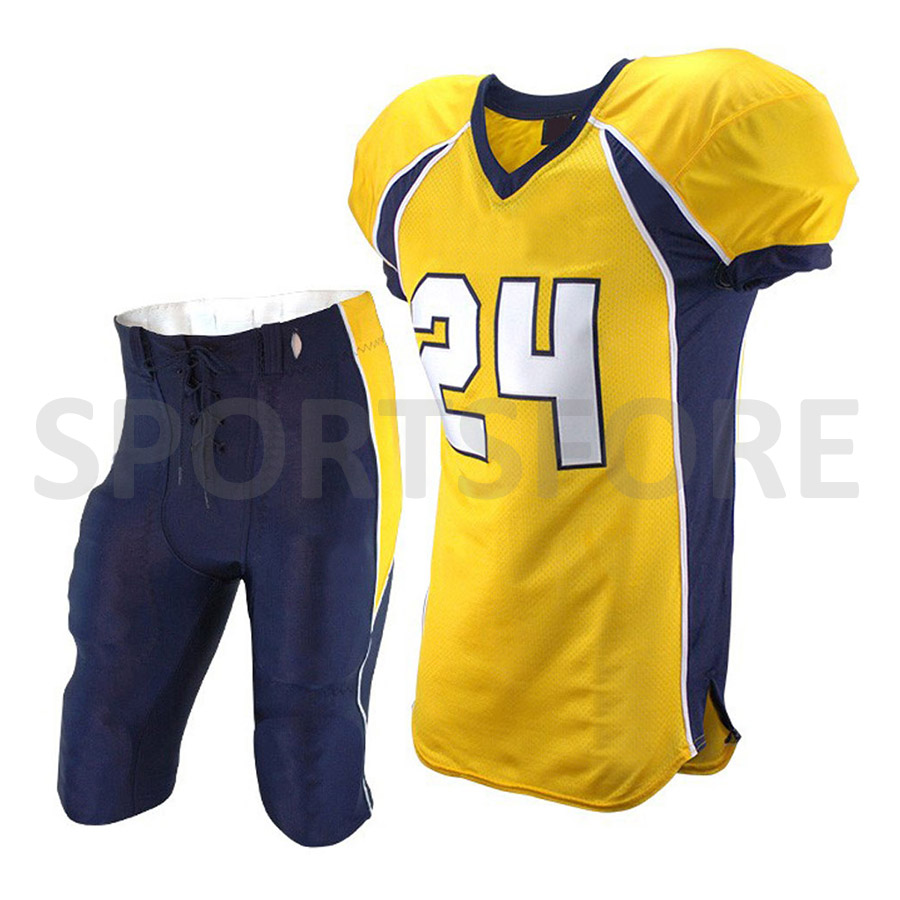 2018 Custom Made sublimated american football jersey full set american football team uniforms cheap blank jerseys