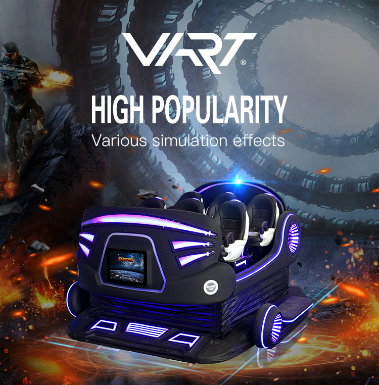 Newest Vart 9D VR 360 Vision 6 Seats Virtual Reality 9D VR Cinema with VR Video Game