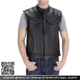 Double & Pocket Button Sexy Style Cheap Price Leather vest