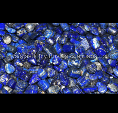 Semi Precious Lapis Lazuli Tumble Stone : Wholesale Gemstone Healing Tumbled Stones : Lapis Lazuli Tumble Stone Crystals Supply