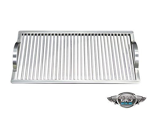 """Stainless Steel Charcoal Fire Grate 9"""" x 24"""" (Grill Grates, Stainless Steel Grill Grates, BBQ Grates, Custom Grill Grates, Cooking Grate, Barbecue Grids)"""