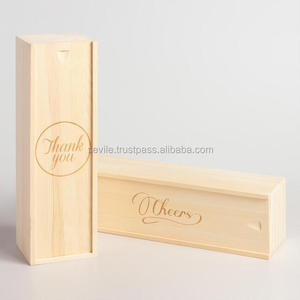 Wholesale Cheap Wine Wooden Box, Promotional Handmade Wine Wooden Box
