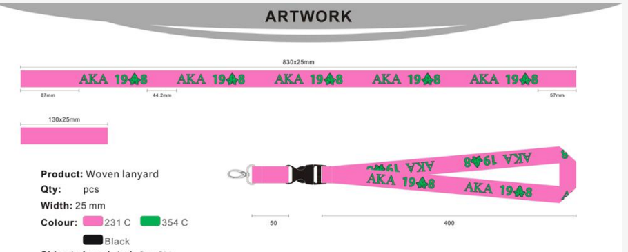 Personalized unique multicolor lanyards no minimum order
