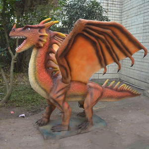 Western Decoration Large Resin Animal Fiberglass Dragon Statue