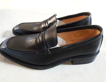 Англия Стиль пояса из натуральной кожи чистый черный Мужские модельные туфли 1b2782311ca