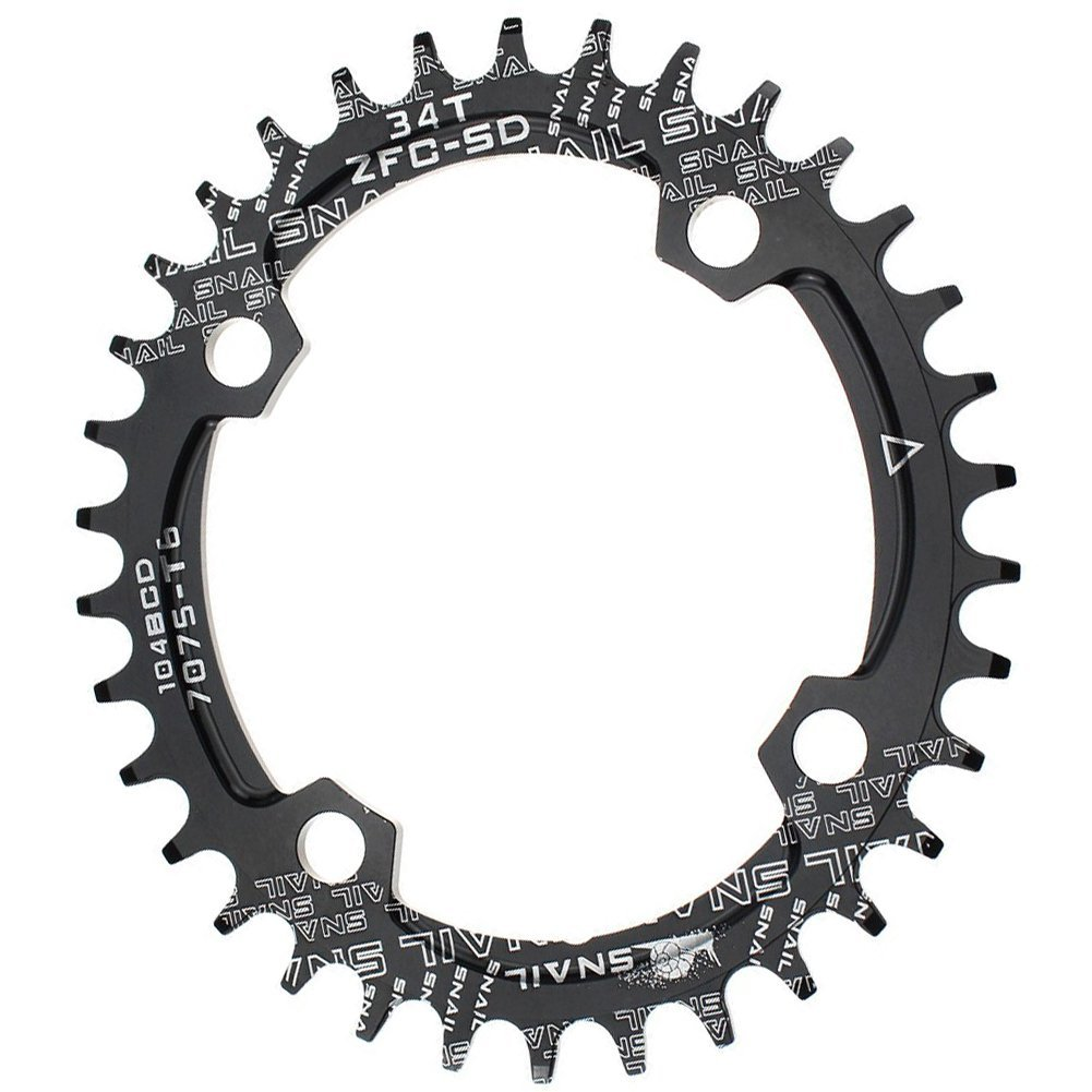 Narrow Wide Chainring Oval 104BCD 32T 34T 36T CYSKY Bike Single Speed Chainring Perfect for Most Bicycle Road Bike Mountain Bike BMX MTB Fixie Track Fixed-Gear Bicycle (Black)