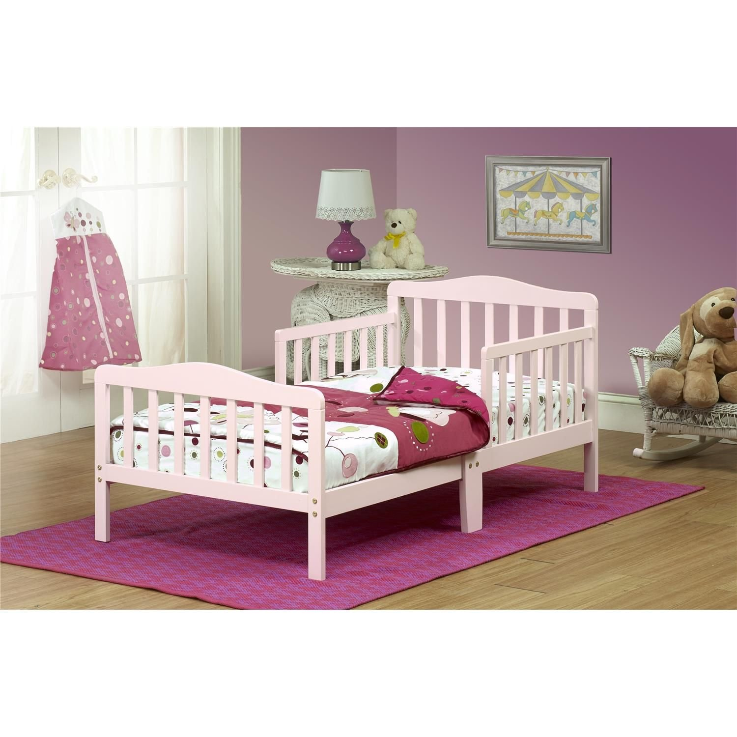 Orbelle 3-6T Toddler Bed, Pink