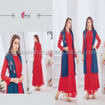 2ee2465b2 Superb Modern Beautiful Color Designer Special Western looking Floor Touch  Fancy Party Wear Kurtis For Women and Girls DressMOQ  10 Pieces 18.00   Pieces