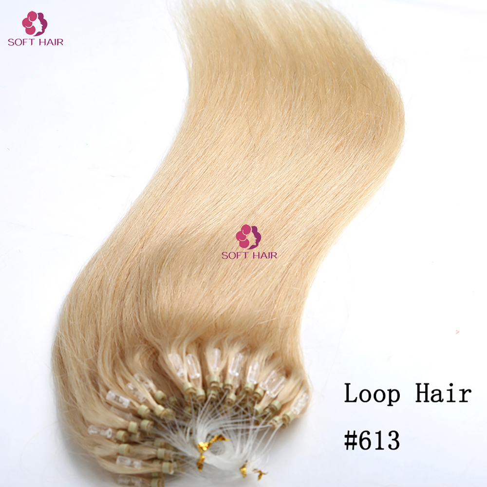 Wholesale 9a High Quality 613 Blonde Color Brazilian Micro Ring Loop