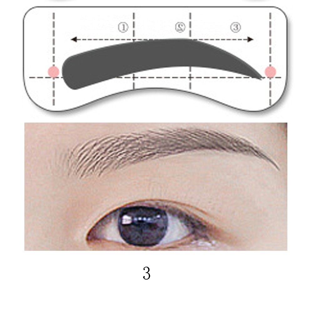 photograph relating to Printable Eyebrow Stencils titled Economical Best Eyebrow Stencil, identify Suitable Eyebrow Stencil