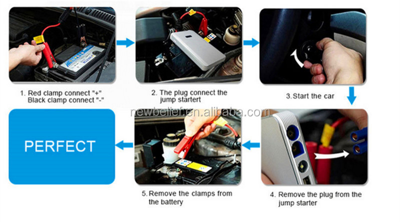 New Electronic Products Portable Smart Pump Battery 12V Charger Car Jump Starter 7500Mah Power Bank with Air Compressor