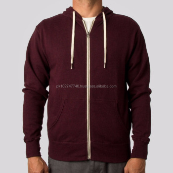 Embroidery Logo Men Fleece Pullover Hoodie 1/4 Zip Kangaroo Pocket ...