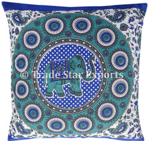 Indian Mandala Elephant Tapestry Pillow Cover Home Decorative Pillow 16X16 Cushion Covers