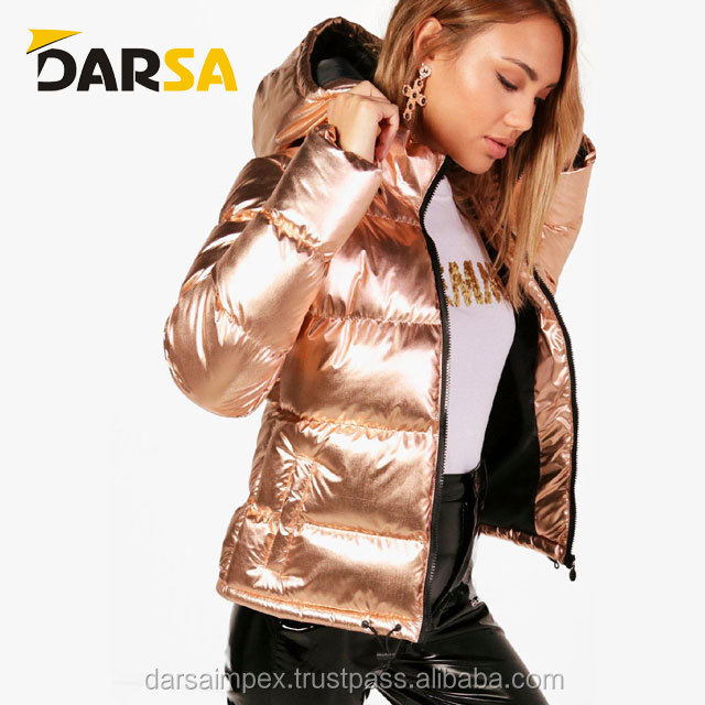 New casual fashion winter polyestor filling linning Women boomber jackets
