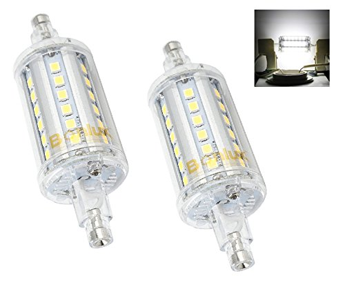 Bonlux 5W R7S J78 Non-dimmable Double Ended J Type 78mm/3in LED Light Bulb R7S LED Floodlight 50W Halogen Replacement Lamp (Daylight 6000K, Pack of 2)