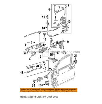 2005 honda accord door lock cylinder