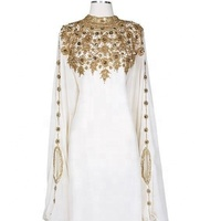 NEW FASHION TRENDY JALABIYA -PARTYWRAR KAFTAN-WEDDING WEAR KAFTAN DRESS - 195