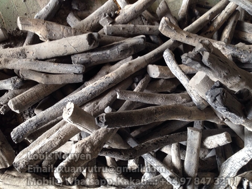 HongQiang 100% bamboo smokeless low white ash arab finger charcoal