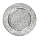 Round Shape Galvanized Charger plate for wedding Home Decoration