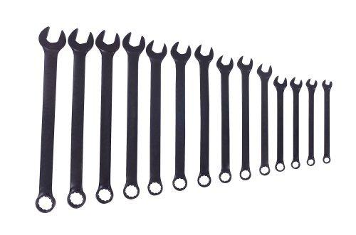 Blackhawk By Proto BL-014 12 Point Combination Wrench Set, Black Oxide Finish, 14-Piece