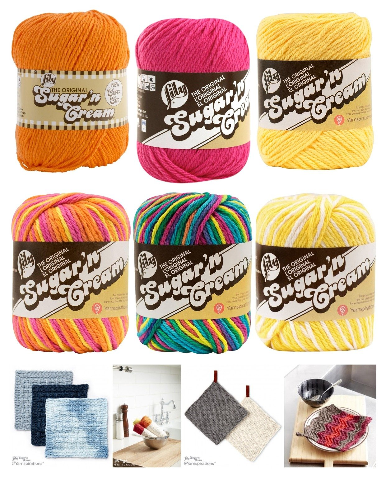 Buy Lily Sugar N Cream 6 Pack Bundle Solid Color Red Yellow Blue