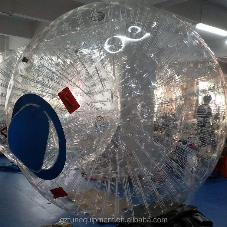 Factory customized manufacturing high quality TPU  KIDS human hamster inflatable crazy rolling grass zord ball for Zorb Ramp
