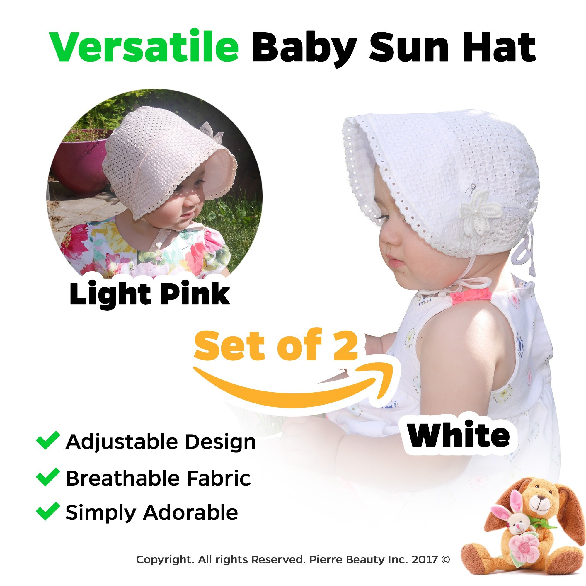 025a96572cf Get Quotations · Baby Girl Sun Hat