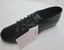 Mens leather dancing jazz shoe black full sole