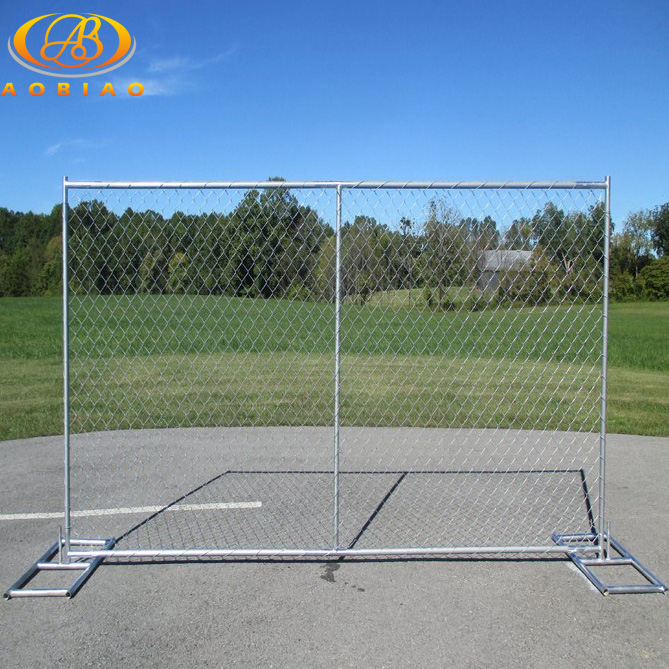 Portable Galvanized Temporary Construction Chain Link Fence - Buy ...