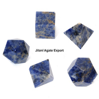 Sodalite 5 pcs Geometry set/Wholesale Platonic Solid Crystal Set Supplier/By From Jilani