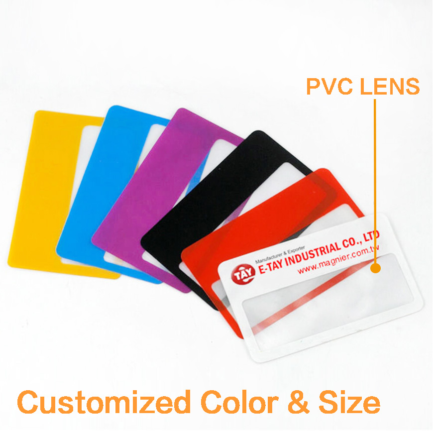Custom Plastic Business Cards Magnifier Ultra Thin