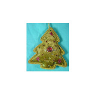 Zari Embroidery Christmas Hanging Tree