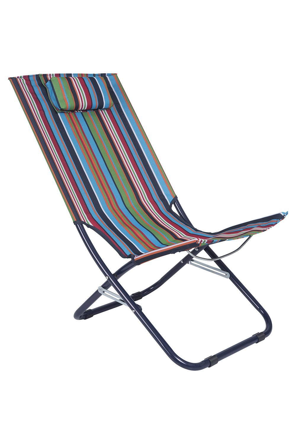 Mountain Warehouse Patterned Lounger Folding Chair with Head Padding to Favour Relax - Durable and Ideal for Camping, Beach, and Garden Lounging - Easy to Fold Away
